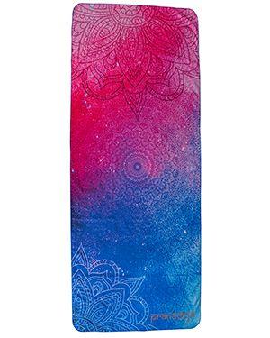 Yogatuch blau pink