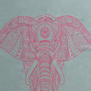 Yogatuch grün Elefant